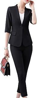 スーツ レディース ジャケット パンツ ズボン 9分裤 2 セット スタイリッシュ ファッション カジュアル ビジネス セット