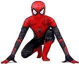 Spiderman Disfraz Niño, Homecoming Spiderman Disfraz Niño Halloween, Carnaval Superheroe Spiderman Niño Cosplay Suit Spiderman Traje 3D Print,Red-150cm