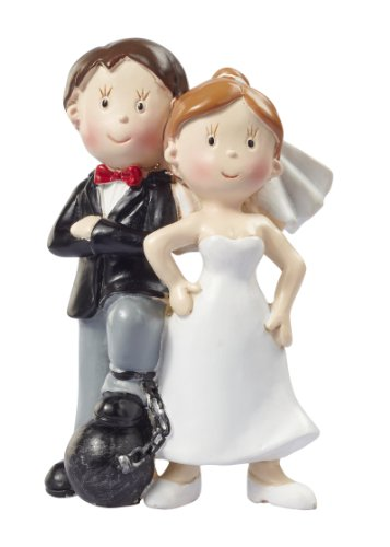 Hochzeitspaar * Brautpaar mit Fussfessel * Tortendekoration * Tortenfigur * Tischdekoration