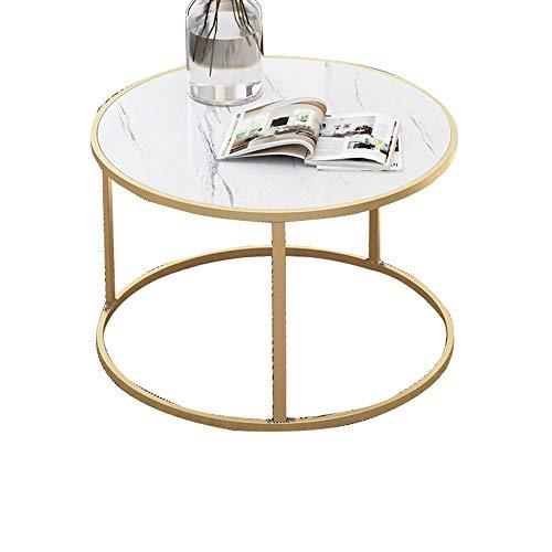 Table Basse Nordique Minimaliste de Sofa, Petite Table de thé de Plat en Bois Simple Moderne avec l'armature en métal, Meubles d'art de Salon