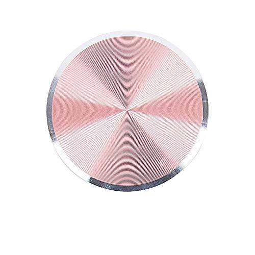 Alecony Metallplatte Aufkleber Ersetzen für Magnet KFZ Handy Halterung,Metallplättchen selbstklebend Handyhalterung Metall Platte für Handy mit Klebefolie für KFZ Handyhalter (Pink)