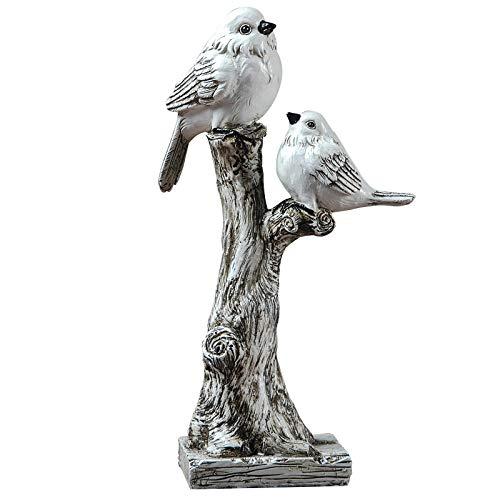 KKJJ Figura Decorativa de Aves Animal Decorativa, Resina Pastoral Creativo Pájaro Ornamento Oficina Escritorio Artesanía Salón Retro Animal Casa Decoración, Amueblamiento,A