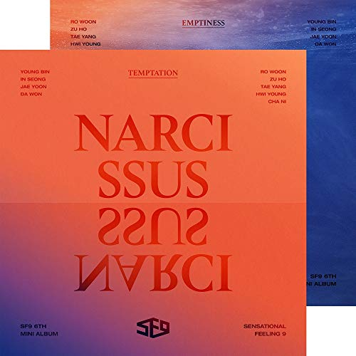 FNC Entertainment SF9 - Narcissus [Temptation Ver.] (6th Mini Album) CD+72p Booklet+Concept Photocard+on Pack Folded Poster+Selfie Photocard+Folded Poster