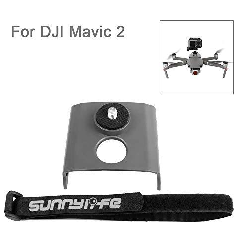 Flycoo2 - Supporto per fotocamera per DJI Mavic 2 Pro/Zoom Drone, montaggio per fotocamera d'azione, flash 1/4 viti adattabile con DJI Osmo Action/Pocket/GoPro Hero 3 4 5 6 7 / Insta 360