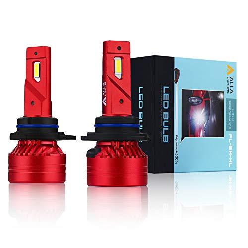Alla Lighting Mini FL-BH 9012 HIR2 LED Bulbs 12500 Lumens Newest High Power 90W Xtreme Super Bright 6000K Xenon White Replacement