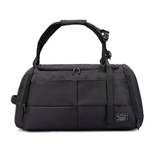 Valleycomfy Sport Bag Gym Sacs Grande capacité avec des Chaussures de Poche Main/épaule/Cross-Body Bag Fitness Bagages Bagages Mot de Passe Anti-vol (Noir amélioré)