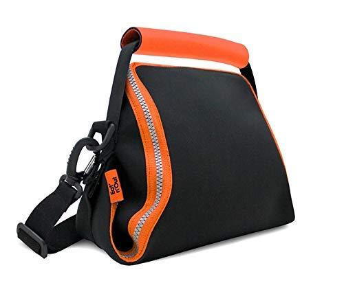 Roll eat Eat n out Neo Sac thermique imperméable convertible en nappe, réutilisable et écologique sans BPA avec fermeture éclair, orange et noir