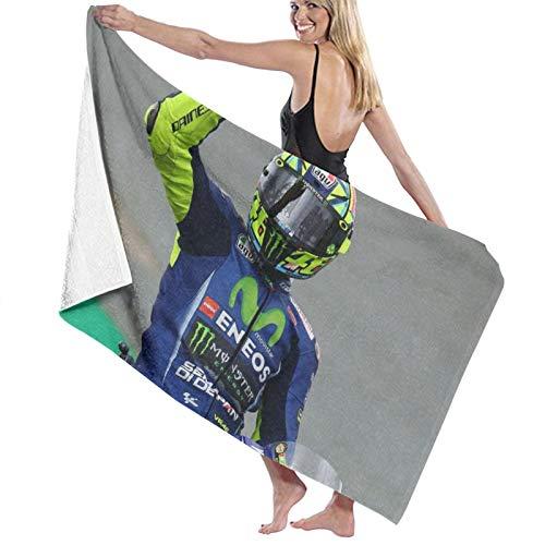 Valentino Rossi - Toalla de baño portátil y ligera, toalla de playa de viaje, súper absorbente, ultra compacta