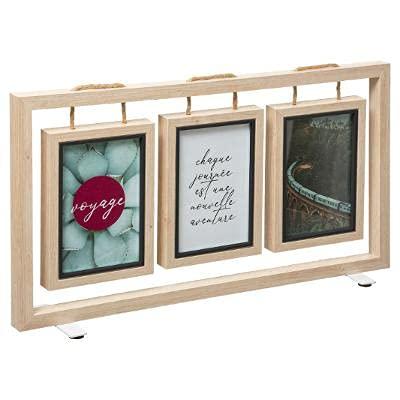 Premium Bilderrahmen   Collage zum Aufstellen oder Aufhängen für drei hängende Bilder bis 10x15 cm   einzigartig   Fotowand zum Befüllen mit Bildern im Hochformat   Fotorahmen Holzbilderrahmen