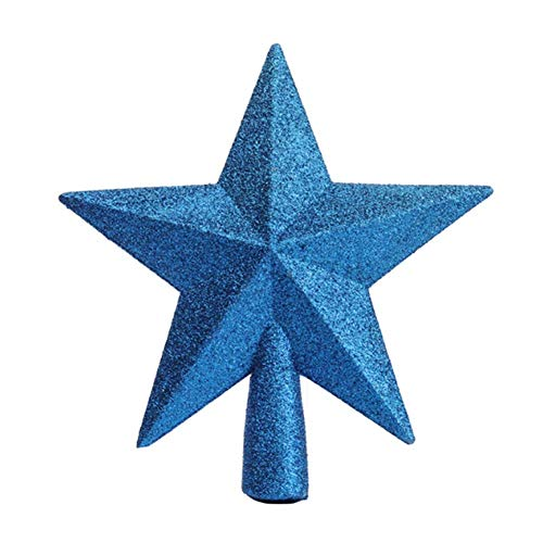 Molinter Tannenbaumspitze Weihnachtsbaumspitze Christbaumspitzen Baumspitze Weihnachtsbaum Stern Weihnachtsstern Baumschmuck für Weihnachten Deko (Blau)