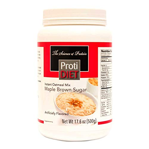 ProtiDiet Oatmeal - Maple Brown Sugar Jug (20 Servings) - High Protein 15g - Low Calorie - Low Fat