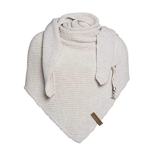 Knit Factory Damen Dreieckschal Coco beige 190x85 cm