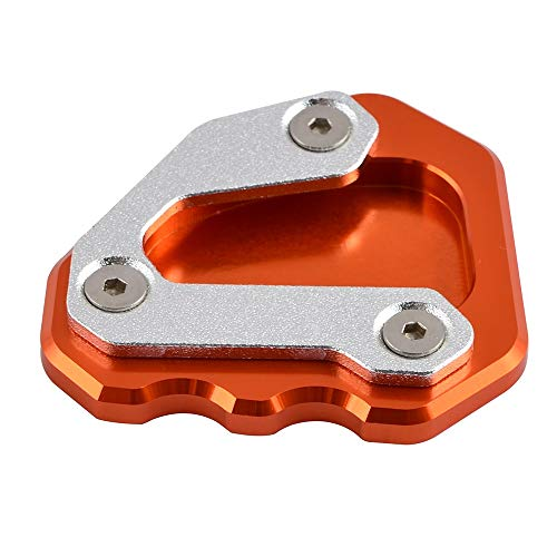 TRINHOKU- Motorcycle Side Stand Enlarger Plate Extension Pad For 1290 Super for DUKE Gt 2013 2014 2015 2016 (Orange)