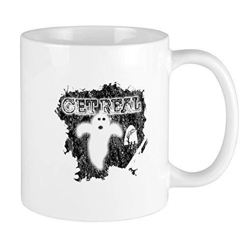 Get Real Ceramic Mug 11Oz Disfraz de Halloween Fiesta Taza de cermica divertida Tazas de caf grficas Tazas de brujas Novedad Decoracin de tazas de terror Idea de Halloween para familiares Amigos C