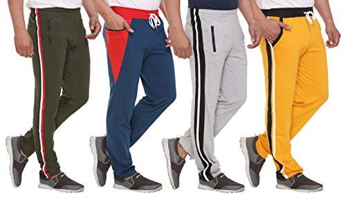 SHAUN Men's Regular Fit Track pants(Pack of 4)