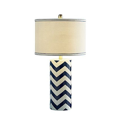 Lámparas de escritorio Mediterráneo azul Lámpara de cerámica del dormitorio Europea Tabla lámpara de cabecera moderna nórdico minimalista Salón de Jardín de la lámpara Lámparas de mesa y mesilla de no
