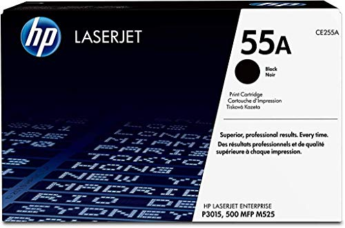 HP 55A | CE255A | Toner Cartridge | Black | Works with HP LaserJet Enterprise 525, P3015, HP LaserJet Pro M521