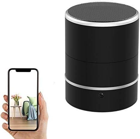Hidden Camera Speaker Spy Camera PTZ 180 Rotate 1080P WiFi HD Bluetooth Speakers Wireless Mini product image