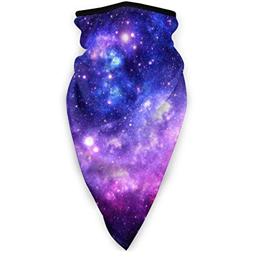 NA Magic Headwear Unisex Bandana / Halstuch, Galaxie-Nebel, Kunstdruck, Violett / Blau
