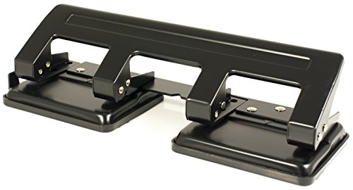 Pavo 8036554 - Perforadora de 4 agujeros (capacidad: 20 hojas), color negro
