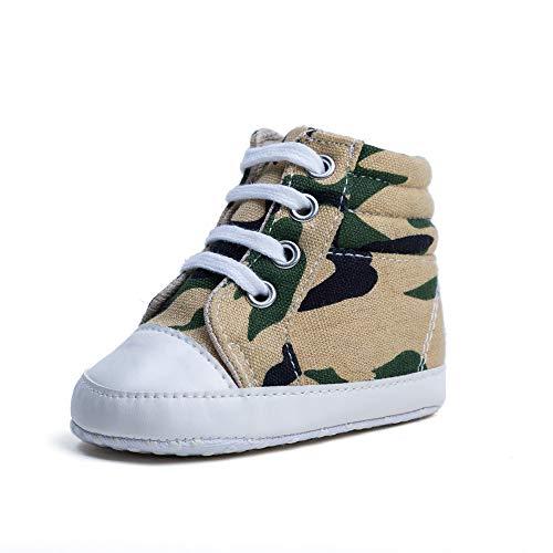 Springisso Chaussures Bébé Haut-Dessus Toile Chaussures Bébé Tout-Petits Sneaker Bébé Chaussures Haute Aide Bottillons Baby First Walkers Chaussures,Jaune,B