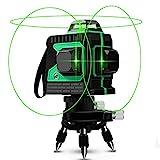 Livella Laser Autolivellante 25M, Careslong 3x360° Linea Laser Verde a Croce, Modalità Impulso...