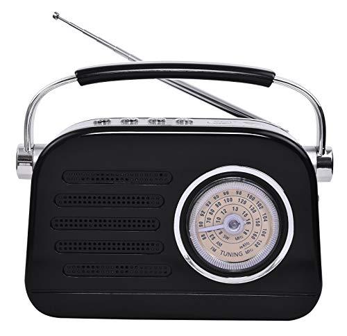 Pagaria Retro FM/AM/SW Portable Radio with Bluetooth & USB