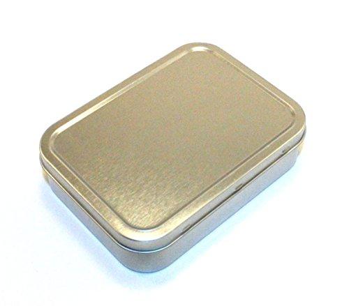 Boîtes de survie hermétiques 25 g et 50 g coloris argent, 25 g