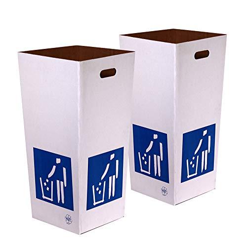 Kartox | Papelera de Cartón de Reciclaje | Automontable | Caja de Cartón para Reciclar | Lote de 2 unidades