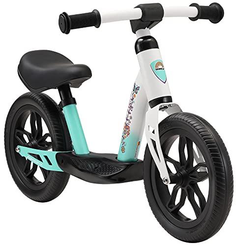 BIKESTAR Bicicleta sin Pedales Muy Ligera para niños y niñas | Bici 10' Pulgadas a Partir de 2-3 años | Eco Clásica Blanco