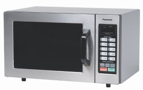 Panasonic NE-1054F Countertop Commercial Microwave Oven with 10 Programmable Memory, Touch Screen Control and Bottom Energy Feed, 1000W, 0.8 Cu. Ft. (Stainless Steel), 5'