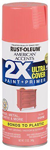 Rust-Oleum 327903 American Accents Spray Paint, 12 oz, Gloss Coral