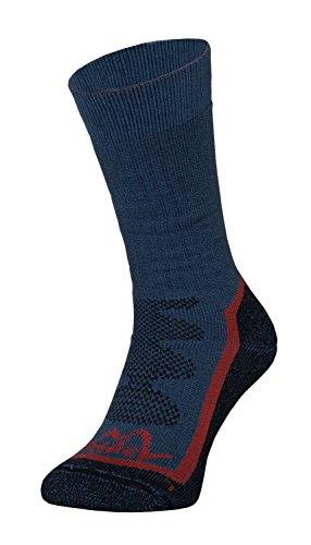 Tashev Chaussettes de randonnée en Cool et bavlna Active Cotton Thermique pour Grande randonnée Chaussures randonnées Conçu pour Les Tailles de S à XL (36 à 47) Noir/Bleu/Rouge XL Schwarz-Blau & Rot
