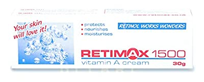 RETIMAX 1500 Vitamin A cream ant-Ageing Anti-wrinkle cream for dehydrated skin, 30g English packaging from Farmina