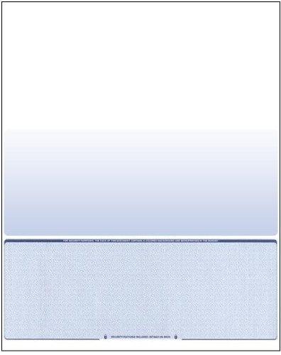 Business Voucher Check Stock - 500 Sheets, Check on Bottom, Blue Diamond