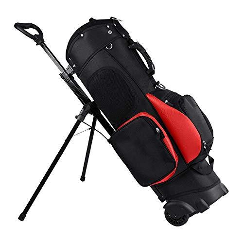 GAOERF Golfschläger-Reisetasche auf Rädern for Herren-Stand-Golftasche Leichtgewicht - Hybrid-Walking-Golftasche mit Ständer (Color : Red)