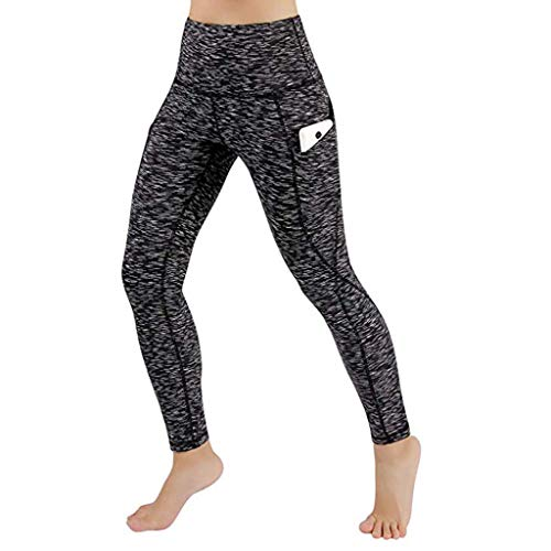 Kneris Mallas Push Up Mujer Leggins Deportivas Yoga Fitness Running Pilates Alta Cintura Transpirables con Bolsillos