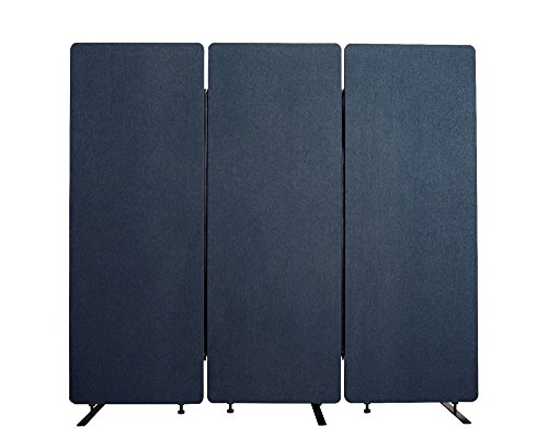 Offex Wall Partition Privacy Screen Freestanding Acoustic Room Divider for Office, Classroom, Libraries - 3 Pack, Starlight Blue