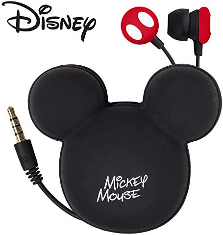 Tribe Disney - Stereo In-Ear Earphones with Remote Control and Microphone I Comfortable Earphones I Compatible with all Devices I 3.5 mm Jack - Mickey Mouse