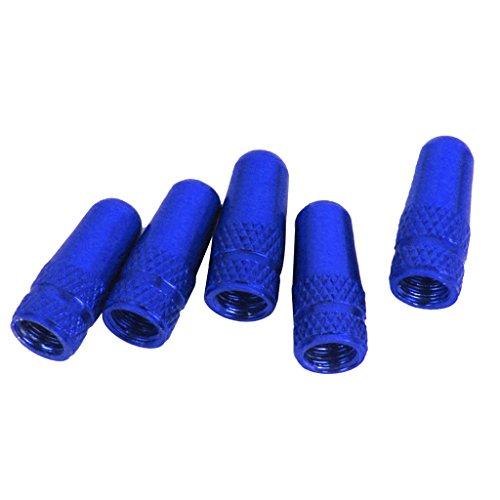 5x Cappucci Valvola Dell'aria Tappi Cerchioni Biciclette Pneumatica Parapolvere - Blu