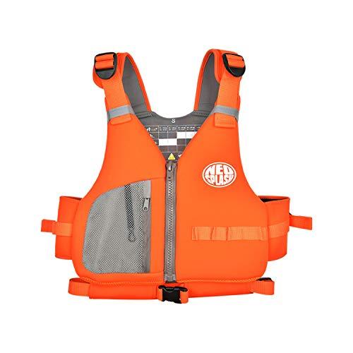 NEO-SPLASH Schwimmweste Erwachsene, Schwimmhilfe, Festtoffweste, Rettungsweste ideal für den Wassersport, Kajak, Sup, Bootfahren, Schnorcheln (Orange, M)