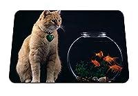 26cmx21cm マウスパッド (猫水族館の魚) パターンカスタムの マウスパッド