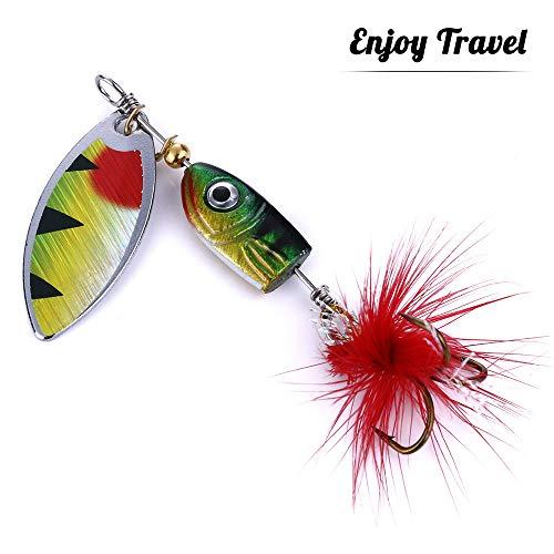 GWFISH Señuelos Cucharillas de la Pesca Set Kits, Spinner Cebo del Hilandero...