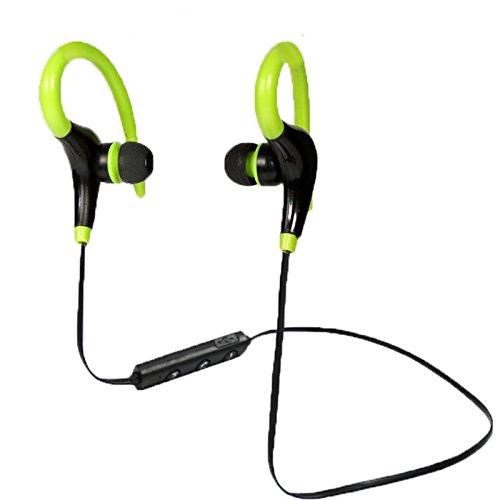 Breakthecocoon Auriculares con gancho para auriculares deportivos (color verde)