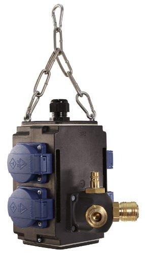 Bachmann 349.301 Energiewürfel 4-fach und 1xDruckluftanschluss, Schwarz/Blau
