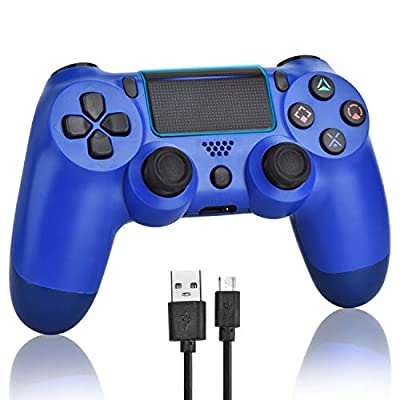Wireless Controllers for PS4, Wireless Remote Control for Sony Playstation 4, YU33 PS4 Joystick Gamepad for Ps4 Controller with Dualshock with Charging Cable from YU33