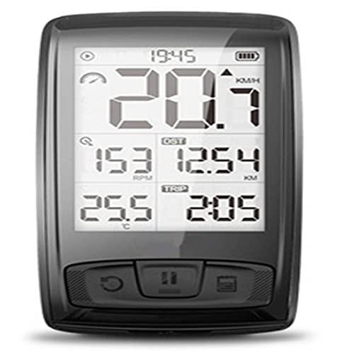 Ciclocomputador GPSBluetooth4.0 inalámbrico Bluetooth 4.0 soporte para bicicleta velocímetro para bicicleta velocidad/cadencia, sensor de bicicleta de ciclismo, impermeable, portátil para escalada