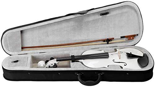 Kadence, Vivaldi 4/4 Violin With Bow, Rosin, Hard Case V001 (White)