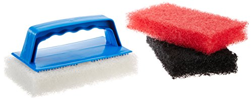 Star Brite Scrub Kit - 3 Different Textured Cleaning Pads & 1 Interchangeable Handle for Simple, Easy Clean Up
