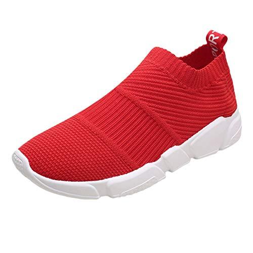 Jodier Zapatillas de Deporte Calzado de Running para Estudiante Volar Zapatos Tejidos...